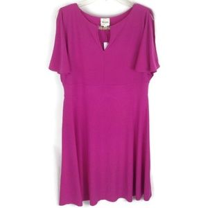 Ashley Graham Beyond Cold Shoulder Dress Sz XL NWT